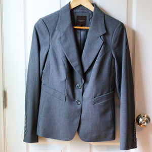 The Limited Gray Jacket and Skirt Suit Set